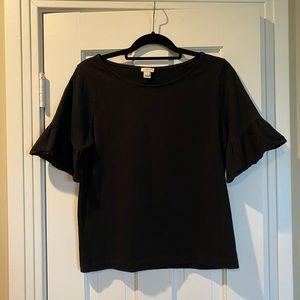 J Crew Black Short Sleeve Top